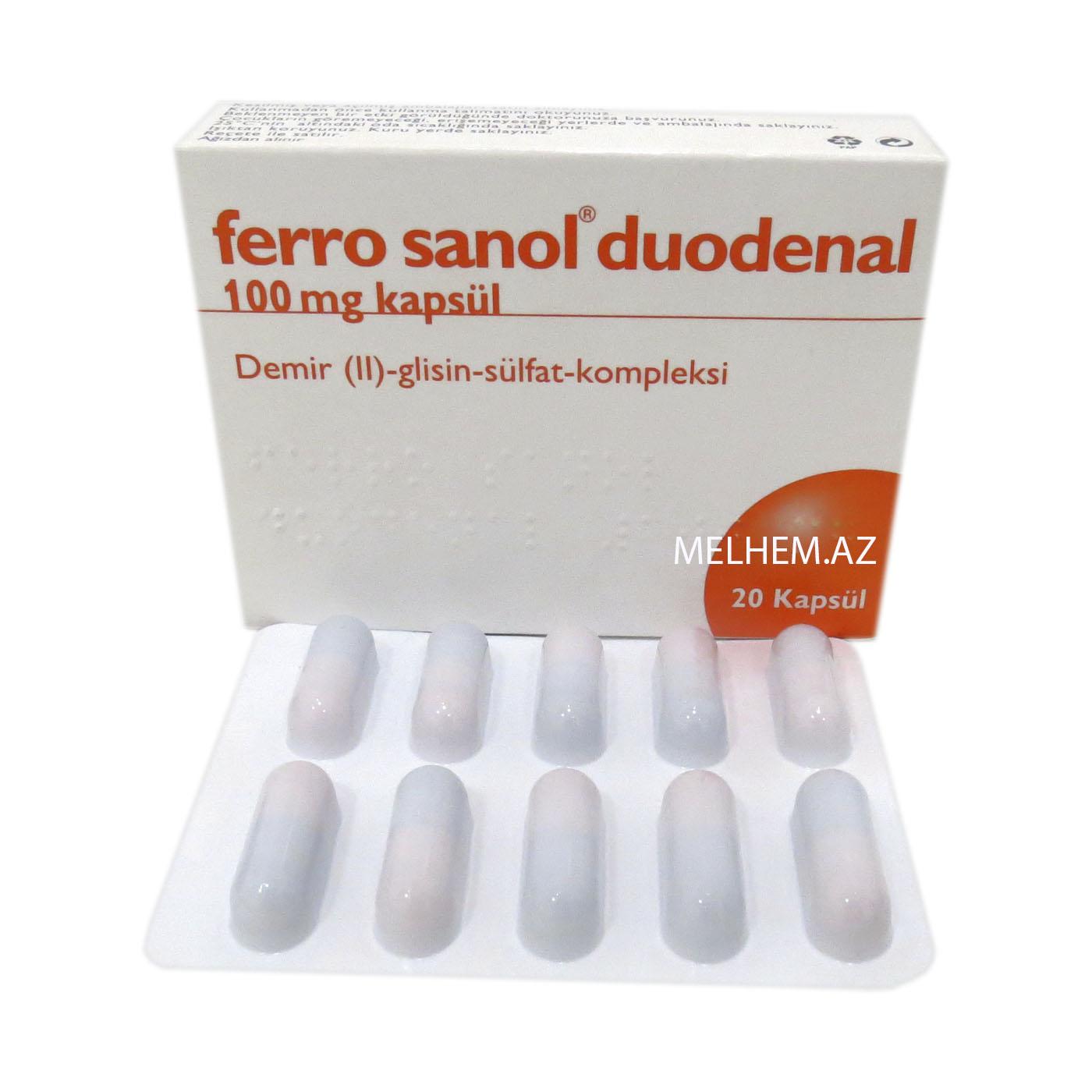 FERRO SANOL DUODENAL 100 MG