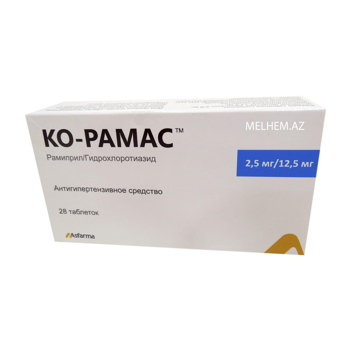 KO-RAMAS 2.5 MQ/12.5 MQ N28 (TABLET)
