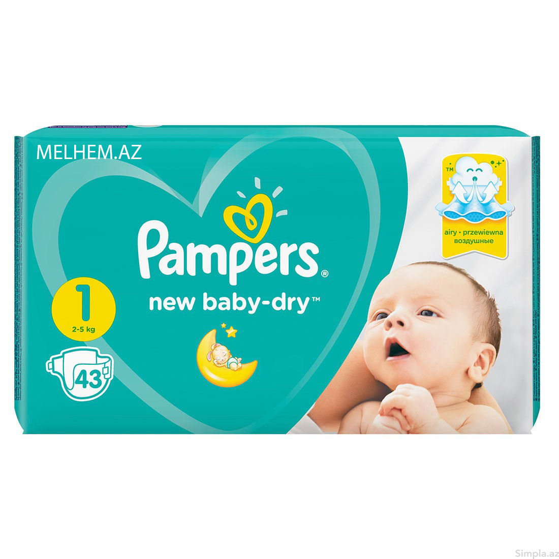 PAMPERS N1 (43 ƏDƏDLİ)