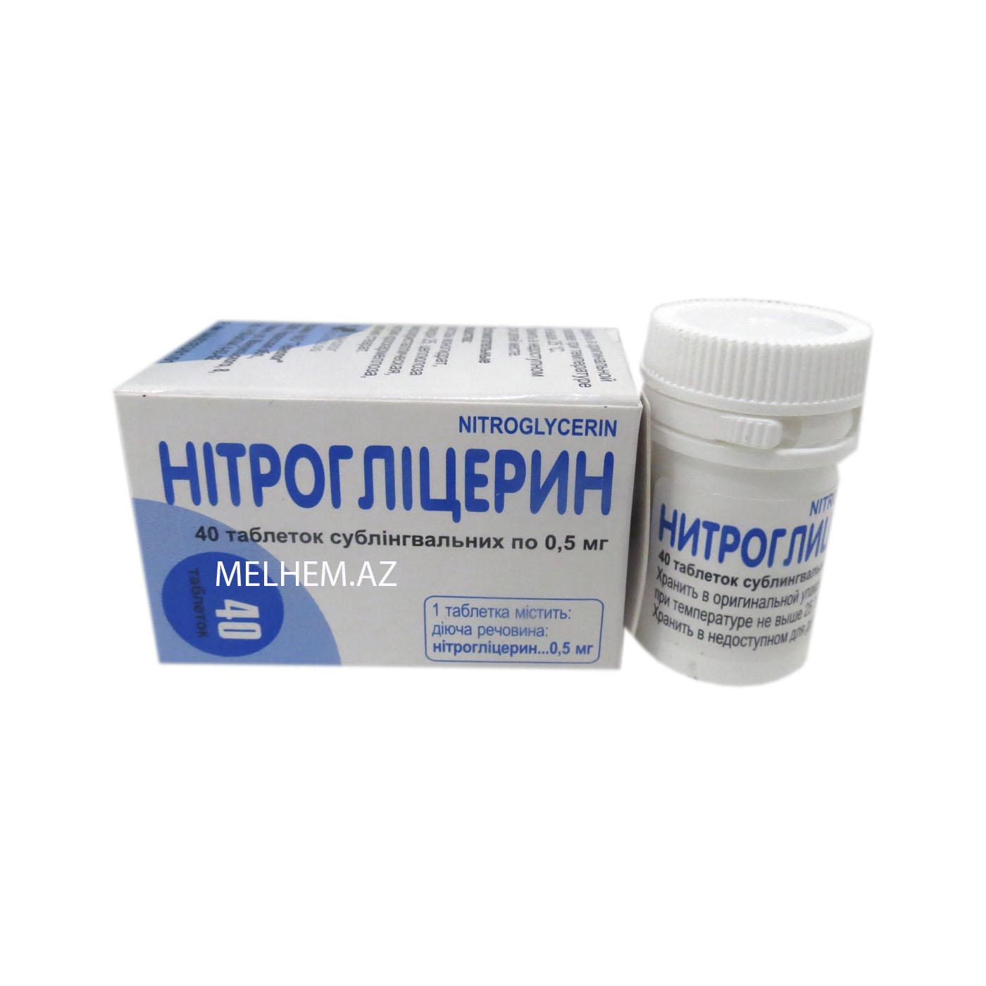 NITROQLISERIN 0,5 MG